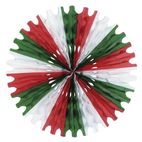 Beistle 55293-RWG 1-Pack Tissue Fan, 25-Inch -