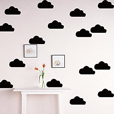 HACASO 66 PCS Mix Size 0.6 to 3.9 Inches Clouds Wall Decal Sticker For Kids Bedroom Decor -DIY Home Decor Vinyl Clouds Mural Baby Nursery Room Wallpaper