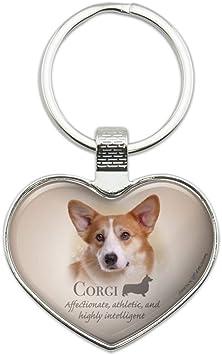 Beagle Dog Breed Heart Love Metal Keychain Key Chain Ring
