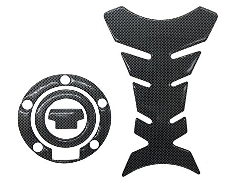 (Carbon Look Firber Motor Gas Cap Tank Pad Sticker For YAMAHA YZF R1 YZF R6 FZ8 R6s)