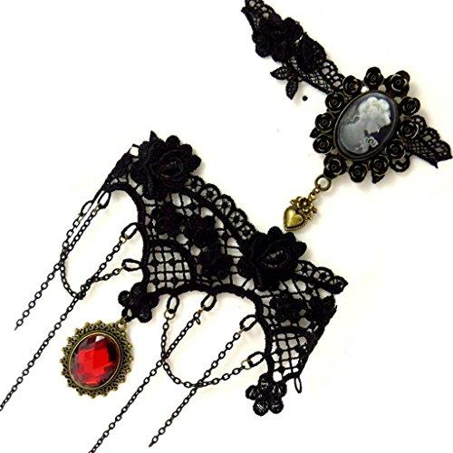 Costume Courtisane (2 crew neck designer 'Courtisanes' red black (lace).)