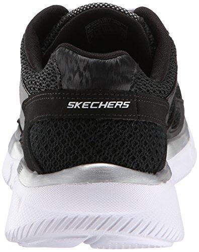 Skechers Equalizer Jungen Sneakers, Schwarz (Bkw), 33.5 EU