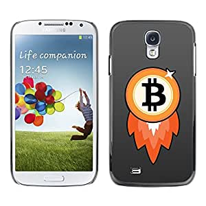 Design for Girls Plastic Cover Case FOR Samsung Galaxy S4 Bitcoin Chip Money Rocket OBBA