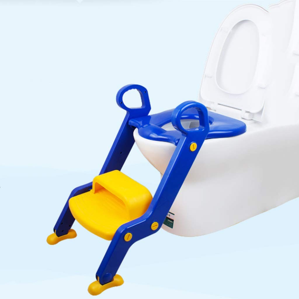 XWJC Children's Potty Toilet Baby Child Boy Girl Stair Toilet Seat Chair Female Baby Toilet Seat Washer (Color : Blue)