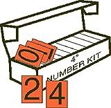 GC Labels-OBO-kit, 4in Orange Backed Vinyl Numbering Kit for Orange Panels, Kit of 10 Packages