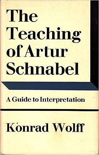 Teaching of Artur Schnabel: A Guide to Interpretation