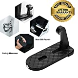 Vehicle Hooked Slam Latch Doorstep, Car Doorstep Vehicle Folding Ladder Foot Peges with Safety Hammer for Jeep, Car, SUV