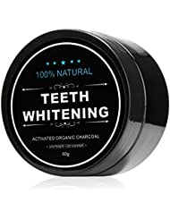 All Natural Teeth Whitening Powder with Coconut Activated Charcoal - Organic Safe Effective Tooth Whitener Solution for Stronger Healthy Whiter Teeth