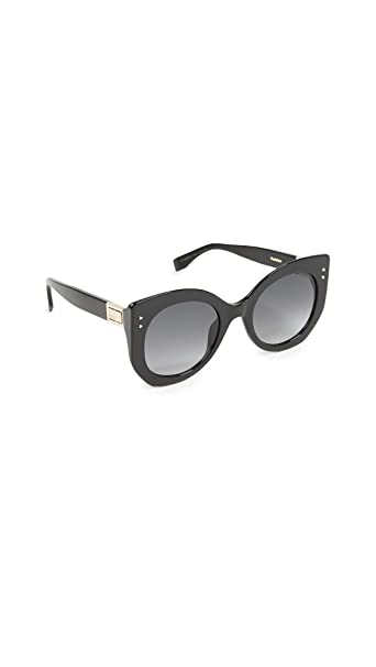 Fendi FF 0266/S 9O 807, Occhiali da Sole Donna, Nero (Black/Grey), 52