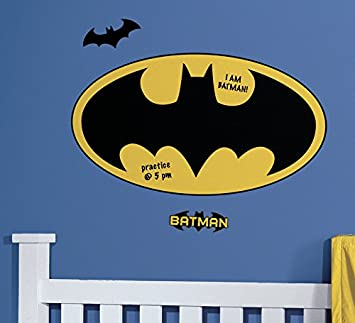 RoomMates RMK2623SLM Dry Erase Batman Logo Peel And Stick Giant Wall Decals Part 87