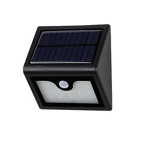 KLSD Luz de sensor de movimiento solar, luz solar segura inalámbrica a prueba de agua