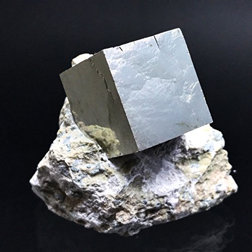 Pyrite Cube on Basalt From Navajun, Spain - PB18 by Astro Gallery Of Gems