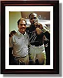 "Framed Alabama Derrick Henry & Nick Saban ""Cigar Celebration"" Autograph Replica Print"