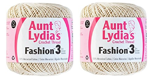 Aunt Lydia's Crochet Thread - Size 3 - (2-Pack) ()