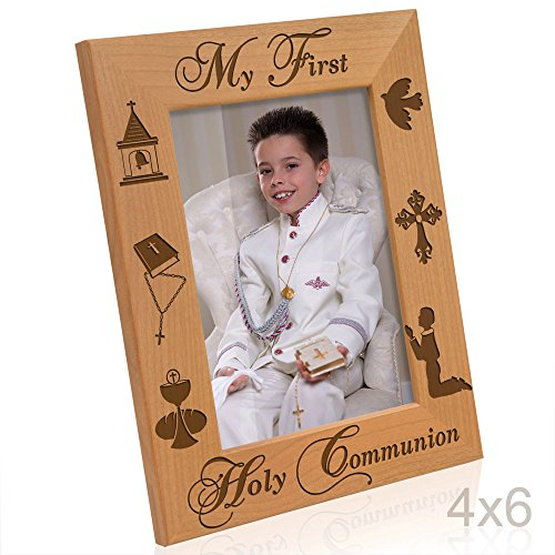 Kate Posh - My First Holy Communion - Boy Design Picture Frame (4x6-Vertical)