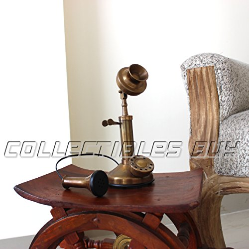 Vintage Marine Mini Candle Stick Phone Classical Table Decor Antique Table Tops
