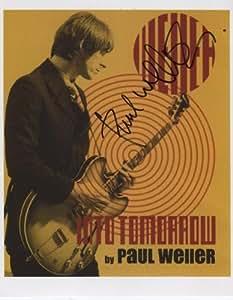 Paul Weller firmé 20,32 cm x cm 25,4 Panodia certificado de autentificación + 100% arranview