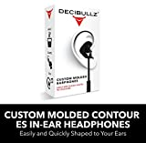 Decibullz - Custom Molded Contour ES In-Ear Headphones, Easily & Quickly Shaped to Your Ears, Black