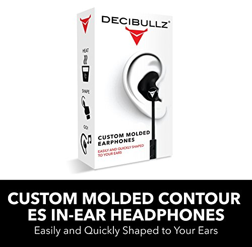 Decibullz - Custom Molded Contour ES in-Ear Headphones, Easily and Quickly Shaped to Your Ears (Black)