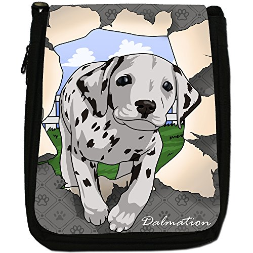 Dalmatian Dogs Bag Medium Breaking Canvas Black Break Shoulder Size Through qxAW8vf1