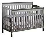 Dream On Me Ashton 5-in-1 Convertible Crib, Storm Grey