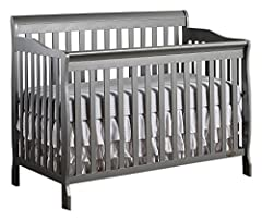 Dream On Me 5-in 1-Ashton Convertible Crib is a lifetime crib that gracefully matures with your child from infancy through childhood to adulthood. With its rugged good looks and sturdy frame. Converts into a daybed and full size bed (full siz...