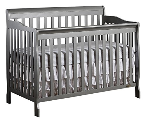(Dream On Me Ashton 5-in-1 Convertible Crib, Storm Grey)