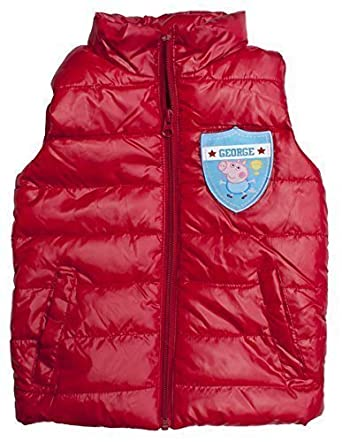 f01f8a46a Boys Peppa GEORGE Pig Trophy Padded Hooded Gilet Bodywarmer sizes from 3 to 8  Years: Amazon.co.uk: Clothing