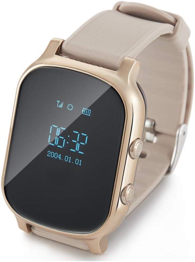 AEF Reloj Inteligente para Niños,Smartwatch Niño Impermeable con LBS GPS Soporte SOS Pantalla Táctil Despertador, Reloj Teléfono para Niños Niña 3-12 Años,Oro