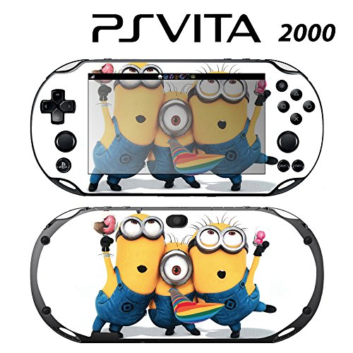 Decorative Video Game Skin Decal Cover Sticker for Sony PlayStation PS Vita Slim (PCH-2000) - Despicable Me Minions (Despicable Me Game Playstation)