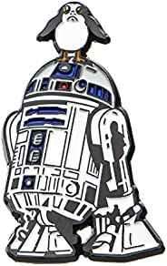 Star Wars Jewelry Men's Episode 8 R2-D2 and PORG Enamel Lapel Pin Jewelry, Silver, One