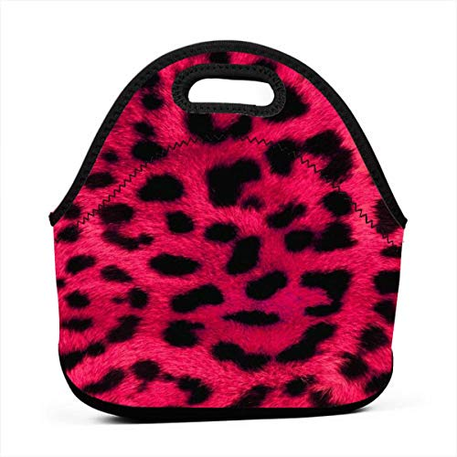 (Fashion.Reborn Neoprene Lunch Bags,Leopard-print-wallpaper-8 Lunch Bag for Kids Women and Men,School Picnic Work Lunch Bags,Thermal Cooler Lunch Pouch with Portable Carrying)