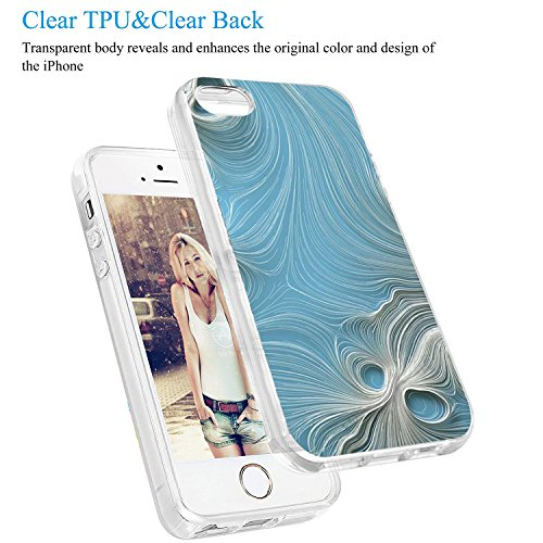Funda iPhone 5/5S/SE, Vanki® Transparente Silicona TPU de Flexibilidad Carcasa Case Bumper Ultra Delgado para iPhone SE/5S/5 Mármol Diseño Mármol 4