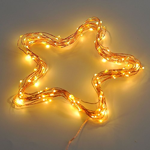 40 Feet Starry String Lights Warm White Color LED's on a Flexible Copper Wire - LED String Light with 120 Individually Mounted LED's-UL Adaptor Included by MineTom (Image #2)