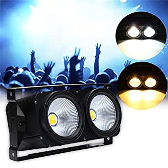 Taihang 200W DMX COB Par LED etapa luz blanco/blanco cálido Disco de la audiencia luces AC90V-245V: Amazon.es: Iluminación