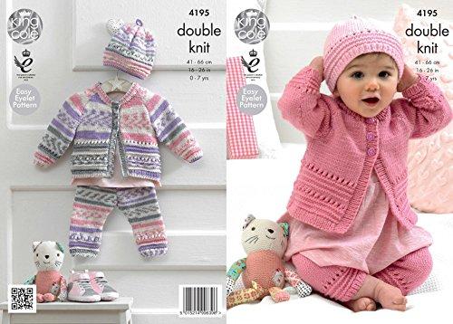 King Cole Baby Coat, Hat & Leggings Cherish Knitting Pattern 4195 DK