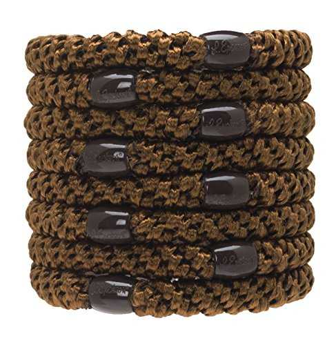 L. Erickson Grab & Go Ponytail Holders - Set of Eight - Mocha