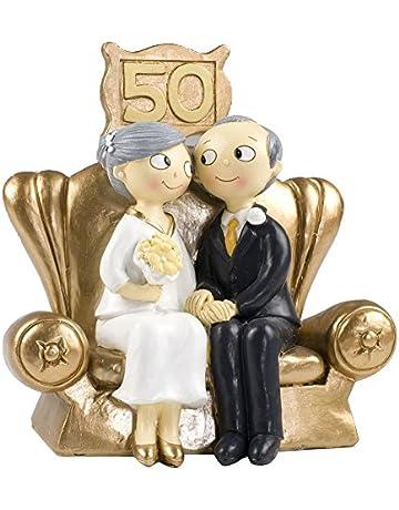Mopec Pop & Fun - Figura para Tarta de Bodas de Oro, 50 Aniversario,