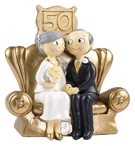 Molto Mopec Pop & Fun - Figura per torta di nozze d'oro, 50  AW65