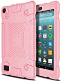 Amazon Fire 7 Case, AMENQ [Friendly Grip]Light Weight Anti-Slip Shockproof Soft Silicone Kid Friendly Case Cover for Amazon Fire HD 7 (Rose Gold)
