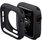 Hontao Ultra Thin Soft TPU Shockproof Built in Bumper Protector for iWatch Case 38mm 40mm 42mm 44mm Series 3/2/1 Black…