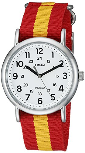 Timex Weekender Varsity Row | Red and Gold Striped Strap | College Watch