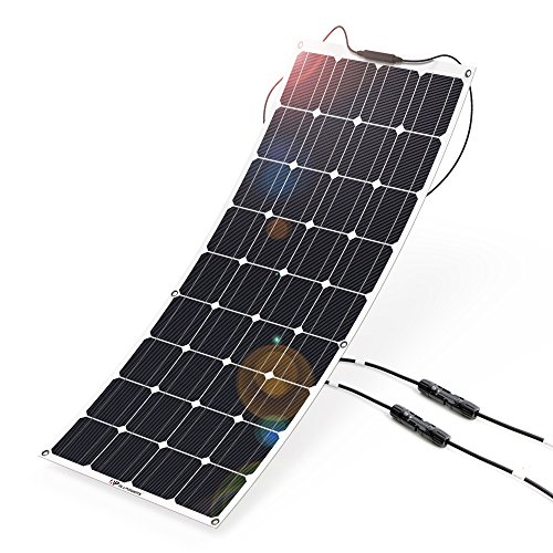 Solar Panel 12V 100W ALLPOWERS Solar Panel Charger Monocrystalline Lightweight Flexible with MC4 Connector Charging for RV Boat Cabin Tent Car (Compatibility with 18V and Below Devices) by ALLPOWERS