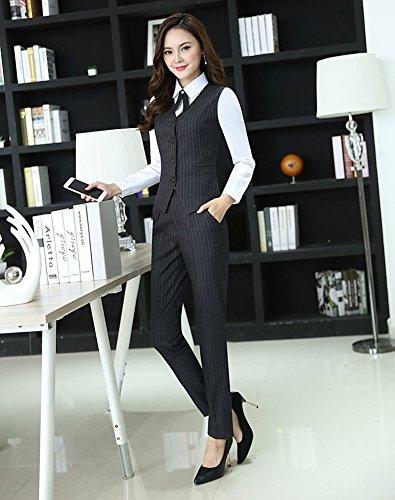 レディース スーツ スカートスーツ パンツスーツ ベスト シャツ スリーピース ストライプ OL オフィス 就活 ビジネス 通勤 事務服 大きいサイズ お洒落 ファッション 正規品 高品質 一つボタン 四季