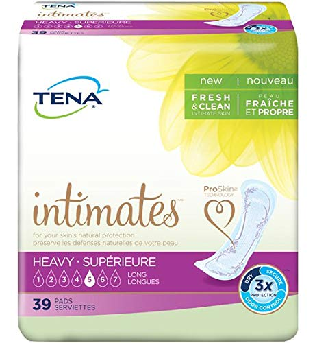 TENA Intimates Heavy Pads Long, Full Case of 117 Pads