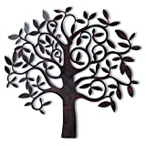 Whole House Worlds The Tree Of Life, Wall Art, Primitive Style, Artisan Crafted, Rustic Patina, Iron, Over 2 Ft (28 x 26 3/4 Inches,) By