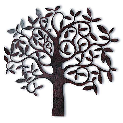 Whole House Worlds The Tree Of Life, Wall Art, Primitive Style, Artisan Crafted, Rustic Patina, Iron, Over 2 Ft (28 x 26 3/4 Inches,) By -