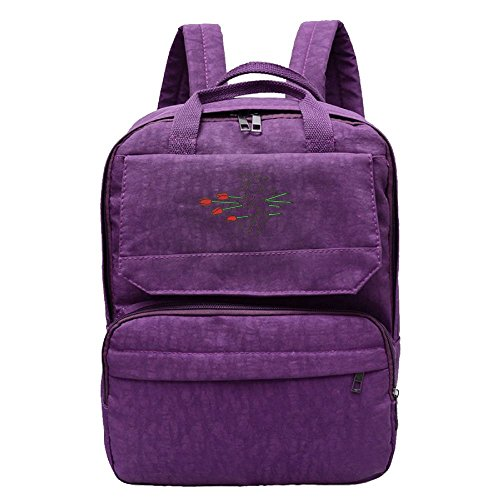 Women's Casual Chic Backpack The Rose Pierced The Heart Travel Bags School Bags Chic Deodorant