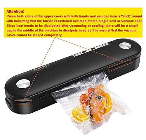 Vacuum Sealer Machine for Food Saver Storage, Automatic Food Sealers Heavy Duty Vacuum Packing Machine Portable Heat Sealer with 10 Vacuum Sealing Bags for Dry & Moist Food Food Preservation -Pink
