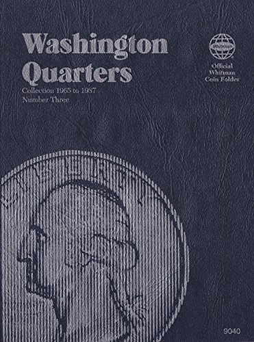 1965-1987 WASHINGTON QUARTERS NEW WHITMAN No 9040 TRIFOLD COIN, ALBUM, BINDER, BOARD, BOOK, CARD, COLLECTION, FOLDER, HOLDER, PAGE, PORTFOLIO, PUBLICATION, SET, VOLUME